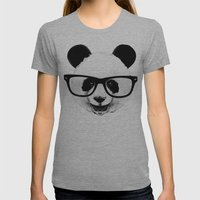 Panda Head Too Womens Fitted Tee Athletic Grey SMALL