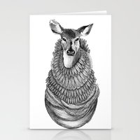 Feathered Deer.  Stationery Cards