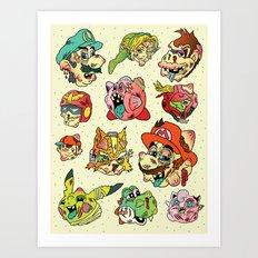 Smashed Bros. Art Print