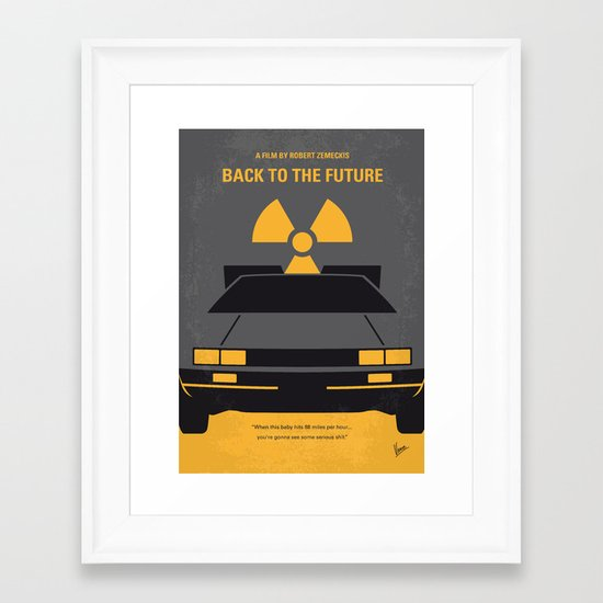 No183 My Back to the Future minimal movie poster Framed Art Print