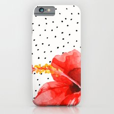 Tropical flower on dots iPhone 6 Slim Case