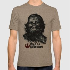 CHE-wbacca Mens Fitted Tee Tri-Coffee SMALL