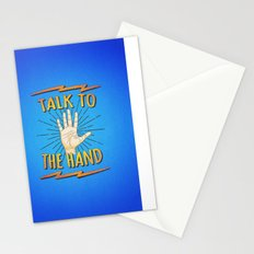 Talk to the hand! Funny Nerd & Geek Humor Statement Stationery Cards