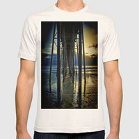Under The Boardwalk Mens Fitted Tee Natural SMALL