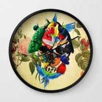 Avian Skull Wall Clock