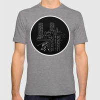 City nights, city lights Mens Fitted Tee Tri-Grey SMALL