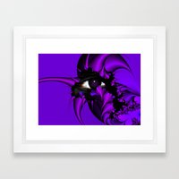 Purple and Blue Fractal Eye Framed Art Print