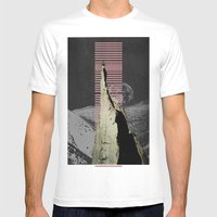 Meditation Mens Fitted Tee White SMALL