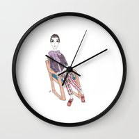 girl in a chair Wall Clock