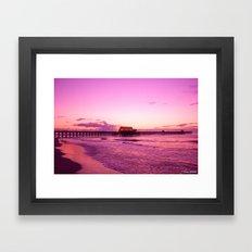 Sunrise at Apache Pier Myrtle Beach Framed Art Print