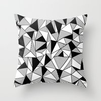 Ab Lines With Black Bloc… Throw Pillow