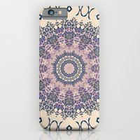 No. 20 Wisteria Arbor Way Regal Purple & Ivory Hugs and Kisses Mandala iPhone 6 Slim Case