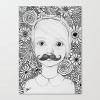 Portrait of Iris Canvas Print