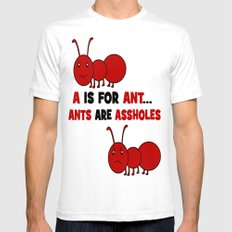 A is For Ant Mens Fitted Tee SMALL White