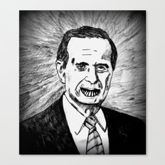 41. Zombie George Bush  Canvas Print