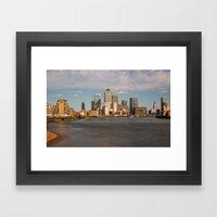Canary Wharf Skyline London Framed Art Print