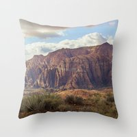 Snow Canyon Throw Pillow