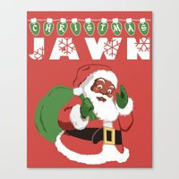Christmas Jawn Canvas Print