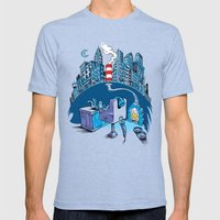 The Cat In The Undergrou… Mens Fitted Tee Tri-Blue SMALL