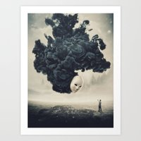 The Selfie Dark Surrealism Art Print