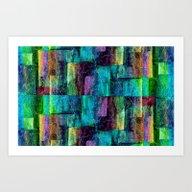 Abstract Square Wall Art Print