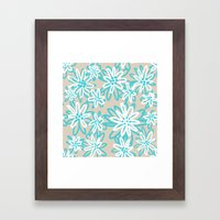 Sandy Floral Framed Art Print