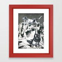 Yes, It's Safer Up Here … Framed Art Print