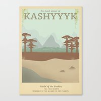 Retro Travel Poster Series - Star Wars - Kashyyyk Canvas Print