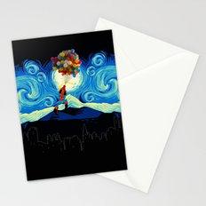 Starry Night Balloons Superhero Stationery Cards