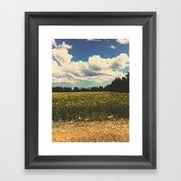 Soy Grass Framed Art Print