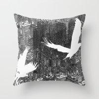 Ecotone (black & white) Throw Pillow