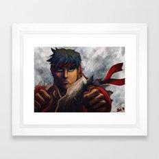 Ryu Focused  Framed Art Print