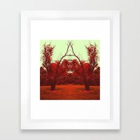 Red Reflection Framed Art Print