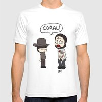 Coral Mens Fitted Tee White SMALL