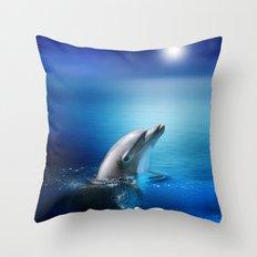 Dolphin Delight Throw Pillow