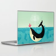 Laptop & iPad Skin featuring The Bird And The Whale by Oliver Lake