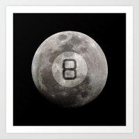 Magic 8 Ball Art Print
