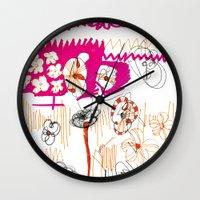 magenta and orange Wall Clock