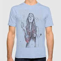 SmkngWomen Mens Fitted Tee Athletic Blue SMALL