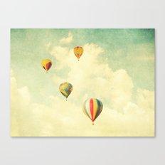 Drifting Balloons Canvas Print