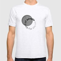 People Are Not My Kind O… Mens Fitted Tee Ash Grey SMALL