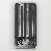 Foxes In The Forest iPhone & iPod Skin