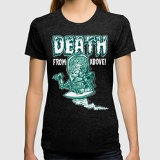 Death From Above (Black) Womens Fitted Tee Tri-Black SMALL