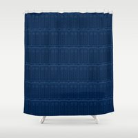 TARDIS Blueprint Pattern… Shower Curtain