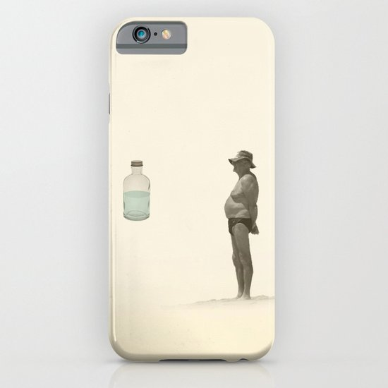 beach and a bottle iPhone & iPod Case