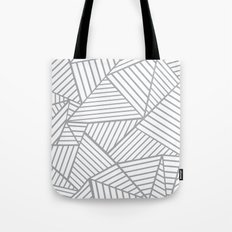 Abstraction Lines Zoom Grey Tote Bag
