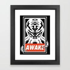 Awake. Framed Art Print