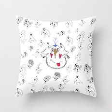 BudapestBirds Throw Pillow