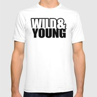 Wild & Young Mens Fitted Tee White SMALL
