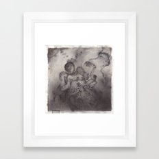 Greasy Bones. Framed Art Print
